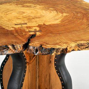 White Oak Burl Gathering Table