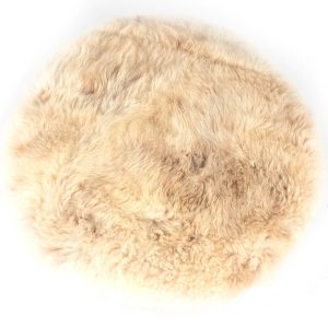 Sheepskin Swivel Pouf Seat
