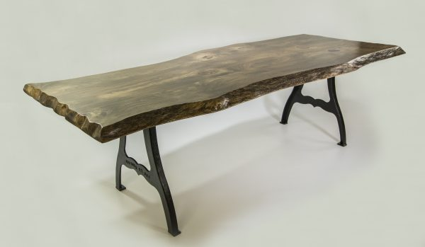 Live Edge Dining Table w/ EB Casted Legs