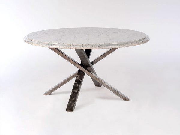 Round Granite Table w/ Cross Base