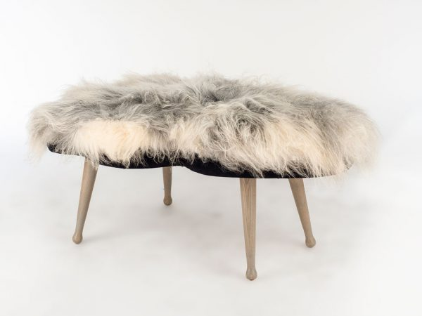 Freeform Icelandic Bench (Grey and White)