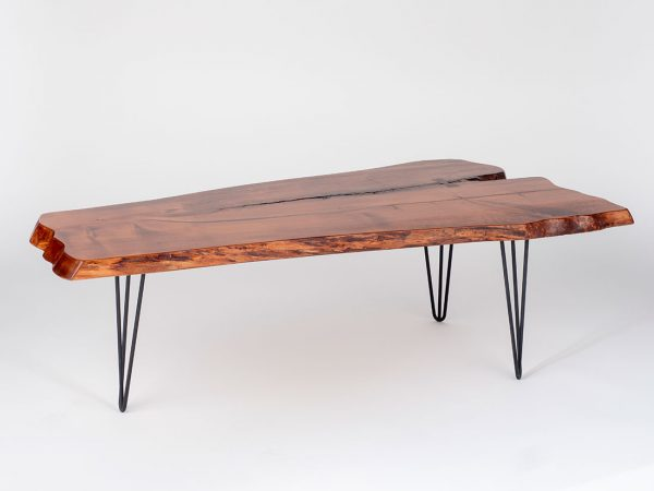 Spalted Maple Center Table w/ Hairpin Legs