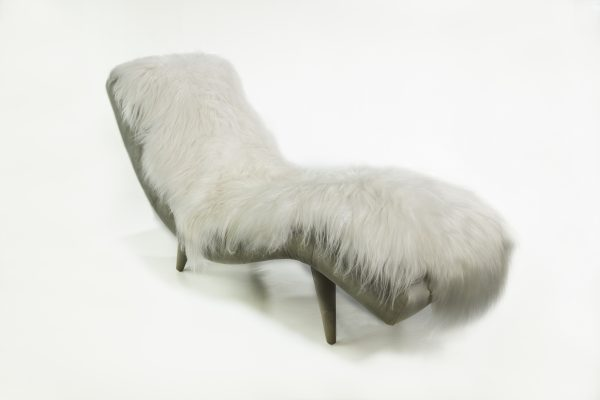 1933 Icelandic Fur Chaise Lounge