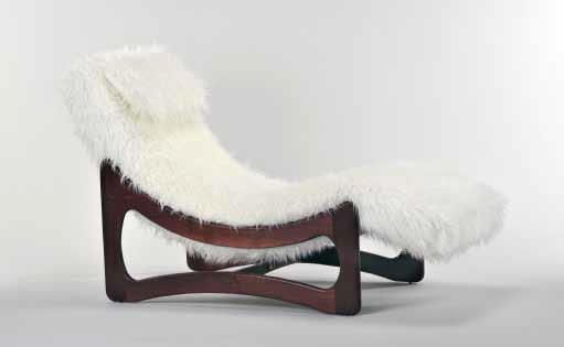 1924 Mongolian Fur Chaise Lounge